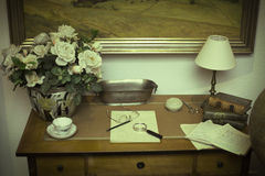 Retro biuro, rocznik Obrazy Royalty Free