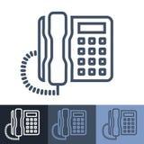 Retro Biurowe telefonu konturu ikony Zdjęcie Royalty Free