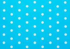 retro blå polka Royaltyfri Fotografi