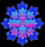 retro blå symbol vektor illustrationer