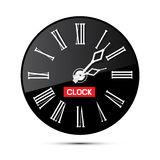 Retro Black Abstract Alarm Clock Illustration Stock Images