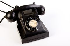 Retro Black Bakelite Telephone Royalty Free Stock Photo