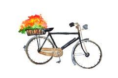 Retro black bicycle Royalty Free Stock Photo