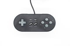 Retro black joystick. Isolated on white background Royalty Free Stock Images