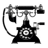 Retro black phone Royalty Free Stock Photos