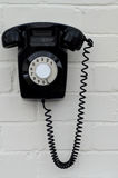 Retro black telephone Royalty Free Stock Images