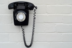 Retro black telephone Royalty Free Stock Photo