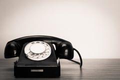 Retro black telephone stock photos