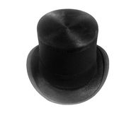 retro black top hat Royalty Free Stock Photos