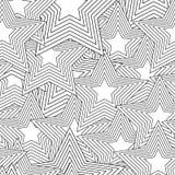 Retro black and white seamless star Royalty Free Stock Photos