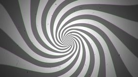 Retro Black and White Spiral Time Tunnel stock footage
