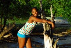 Retro Black Woman Stock Image