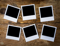 Retro blank instant photo frames Royalty Free Stock Image