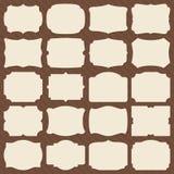Retro blank paper label shapes. Vintage elegant frames for wedding invitation vector set vector illustration