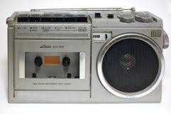 Retro blaster cassette tape recorder stock photography