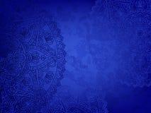 Retro- blauer Hintergrund der Mandala vektor abbildung