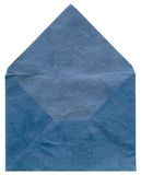 Retro- blauer strukturierter Umschlag stockbild