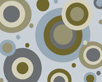 Retro- blauer und brauner Kreishintergrund Stockfoto