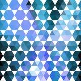 Retro blauw patroon van geometrische vormen royalty-vrije illustratie