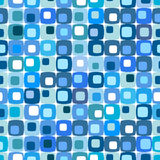 Retro blauw vierkant patroon Royalty-vrije Stock Foto