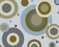 Retro blauwe en bruine cirkelsachtergrond Stock Foto
