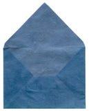 Retro blauwe geweven envelop Stock Afbeelding