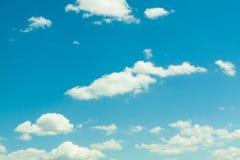 Retro blauwe hemel Stock Foto