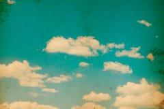 Retro blauwe hemel Stock Fotografie