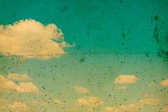 Retro blauwe hemel Stock Foto's