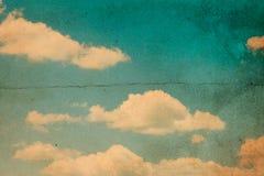Retro blauwe hemel Stock Afbeeldingen