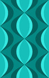 Retro Blauwe Ovale Patroon van jaren '50 Stock Afbeelding