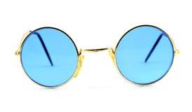 Retro blauwe zonnebril Stock Afbeeldingen