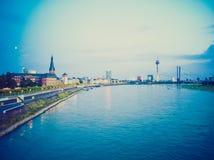 Retro- Blick Duesseldorf, Deutschland Lizenzfreie Stockfotos