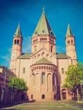 Retro- Blick Mainz-Kathedrale Lizenzfreies Stockfoto