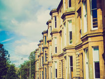 Retro blick terrasserade hus Arkivfoto