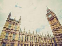 Retro blickhus av parlamentet Royaltyfri Fotografi
