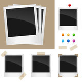 Retro blocchi per grafici del Polaroid impostati royalty illustrazione gratis