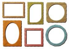 Retro blocchi per grafici della foto impostati Immagini Stock Libere da Diritti