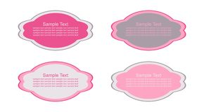 Retro blocchi per grafici pastelli illustrazione di stock