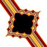 Retro blocco per grafici del Brown e dell'arancio Fotografia Stock
