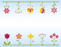 Retro blocco per grafici del fiore Fotografia Stock