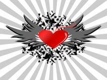 Retro blocco per grafici di amore Fotografia Stock