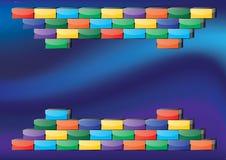 Retro blocco per grafici di gioco Fotografia Stock Libera da Diritti