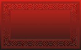 Retro blocco per grafici rosso dei puntini Immagine Stock