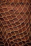 Retro blocco per grafici sulla vecchia corda e sulla rete da pesca Immagini Stock