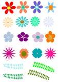 Retro bloem Stock Afbeelding