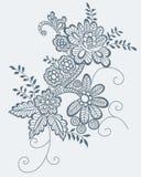 Retro bloem Stock Foto