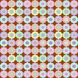 Retro Bloem op Chocolade Naadloos Patroon vector illustratie