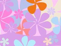Retro bloemachtergrond Stock Afbeelding