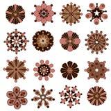 Retro bloemelementen voor ontwerp Royalty-vrije Stock Fotografie